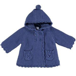 Mayoral Sweater Coat Blue Newborns